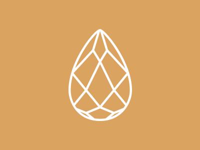 Crystal  logo crystal line