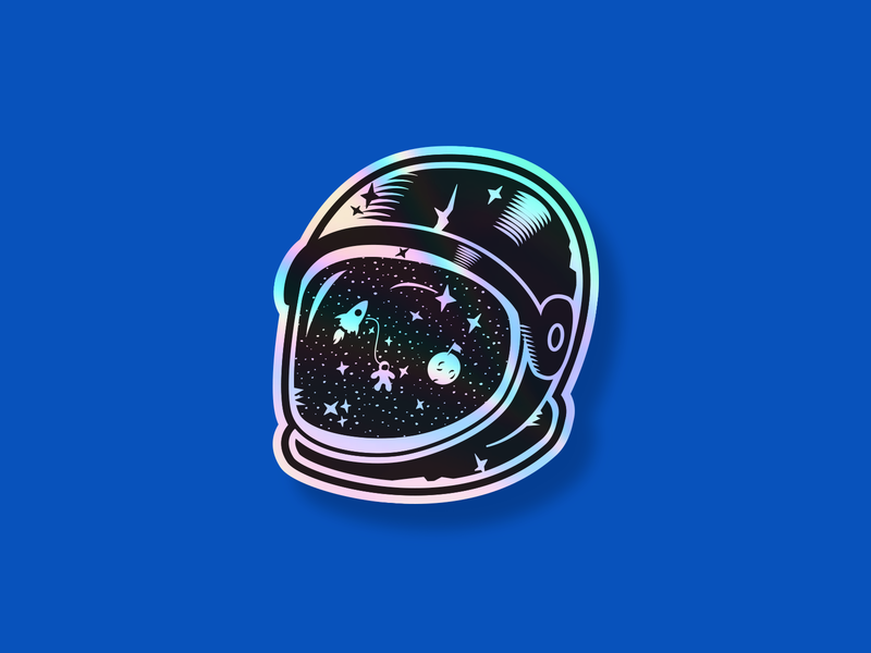Space Age (Holographic Sticker)