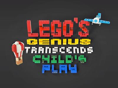 LEGO's Genius legos balloon plane 3d blocks render ideo tim brown prototyping child children kids fun prototype thinking design thinking design toy lego