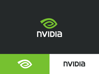 NVIDIA Logo Redesign mark green technology symbol brand typography simplistic simple redesign rebrand company tech nvidia logo identity branding
