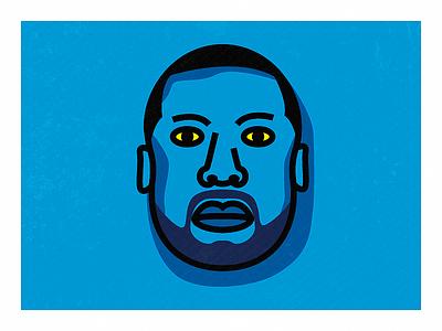 Meek Mill Portrait portrait. headshot music celebrity face drawing simplistic simple illustration