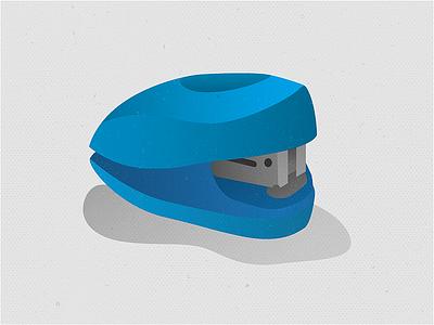 Stapler texture symbol gradient supplies office blue cute simple basic illustration desk stapler