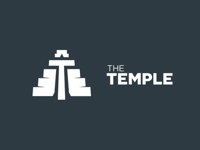 The Temple - identity concept simple t aztec religious temple design identity logo