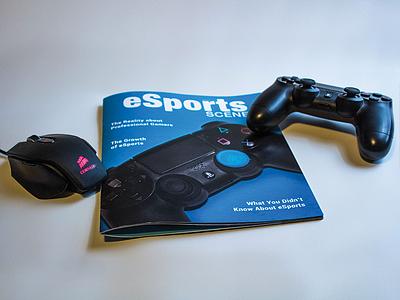 eSports Scene Magazine mouse. product ps4 controller gaming esports photography design layout magazine