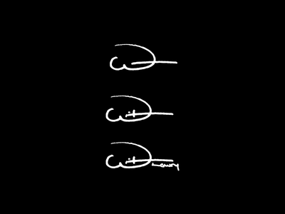 Witt Lowry Identity Concept witt lowry mark signature writing handwriting typography concept design identity logo