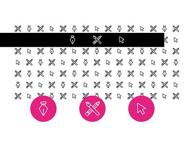 Simplistic Creative Icons/Pattern mouse brush supplies art pentool simple geometric simplistic icons pattern symbols creative