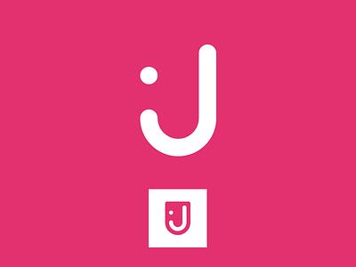 36 Days of Type - J playful logotype monogram fun child symbol simple typography letter j 36 days of type