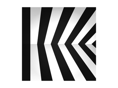36 Days of Type - K bw black and white illusion perspective pattern symbol simple typography letter k 36 days of type