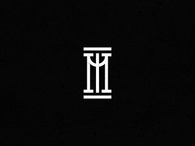 36 Days of Type - M black white type typography identity mark logo elegant simple shapes geometric 36 days of type