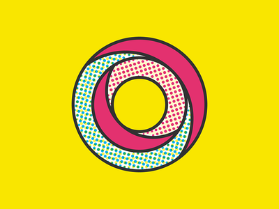 36 Days of Type - O dots texture halftone symbol simple typography letter o 36 days of type