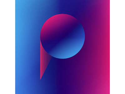 36 Days of Type - P shapes geometric geometry overlay gradient grain texture simple typography letter p 36 days of type