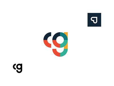 cg logo idea heart monogram letter cg g c shapes geometry geometric mark logo