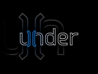 under wordmark logo simplistic geometry geometric symbol gradient branding vector letter simple design logotype typography identity logo wordmark under