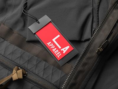 LA Apparel - Made with Looka mockup design mockup lookadesign logos ai logo design logo branding design branding and identity branding brand identity