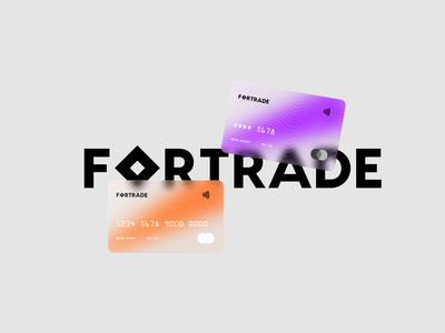 Fortrade - Brand Identity Design by Looka abstract design background design gradient design illustration design logos ai branding design branding and identity branding brand identity poster mock up poster design poster credit card design card design banking mock up mockup logo design logo