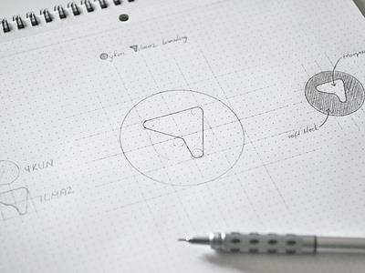 Personal branding sketches oykun grid pencil dotgridbook portfolio logo branding sketch