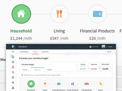 expenses plentific budget calculator by oykun yilmaz dribbble