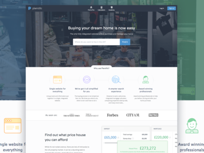 Plentific landing redesign web website web app landing mortgage parallax search illustration