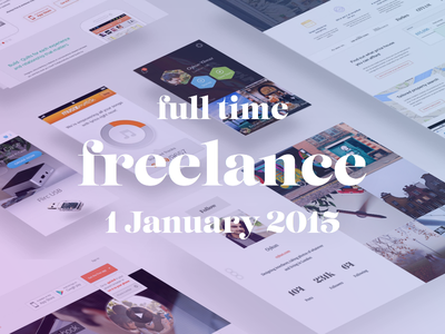 I'm now full-time freelancer :) freelance available design web ios android os x iphone ipad