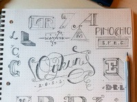 Sketch letters b