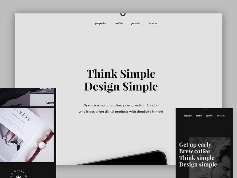 The new portfolio - oykun.com editorial responsive web minimal profile blog semplice minimalist simple designer journal portfolio