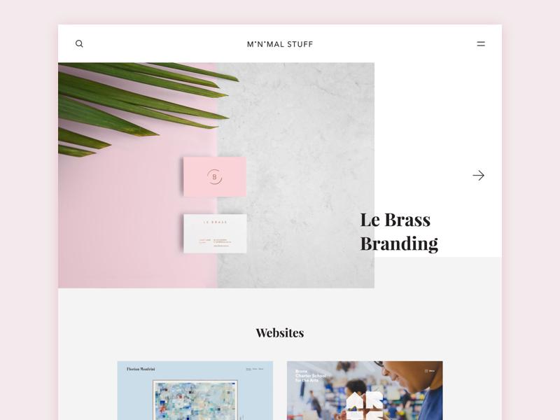 Minimal Stuff minimal clean magazine gallery design product branding website inspiration