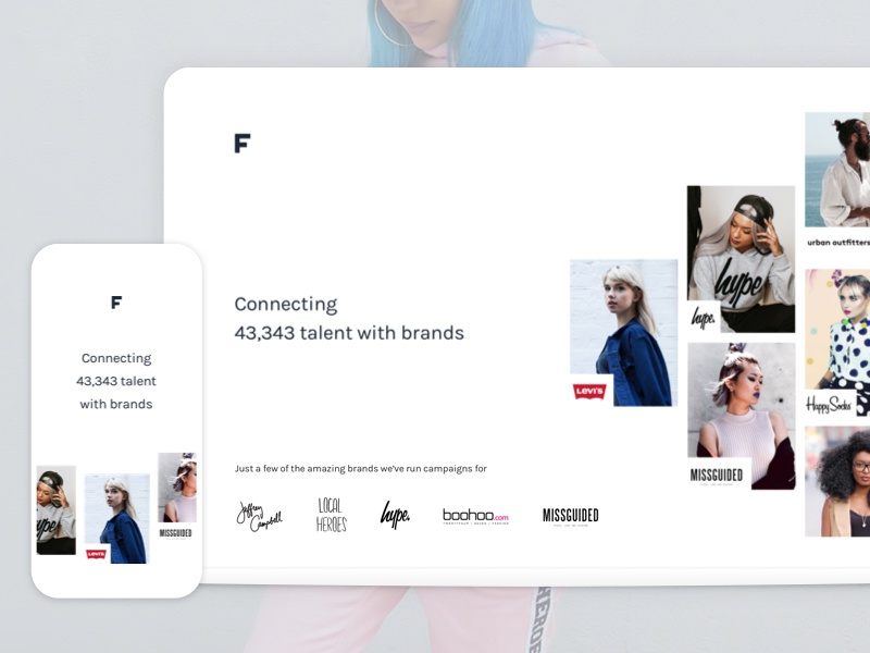 The new Feels.com clean simple minimal single page case study animation responsive fashion landing website web