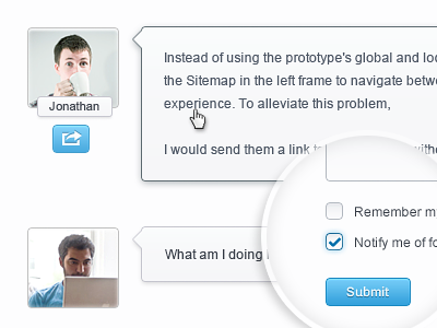 Comments and form website web ui form button input checkbox textarea avatar blog comment icon web