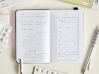 How I kick off a project → Notes and Quick Sketches for Echo