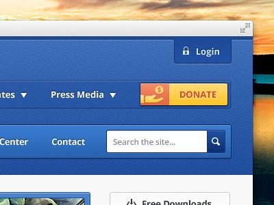 Donate website web ui ui button web login icon donate input search nav navigation menu web design