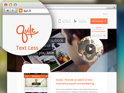 Welcome to Quilt website web ui web design webdesign quilt web