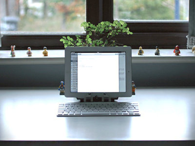 Workspace for writing workspace ipad office desk lego bonsai
