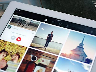 Shall I make this app real? social minimalist flat gesture ipad ios instagram app design photo clean mobile