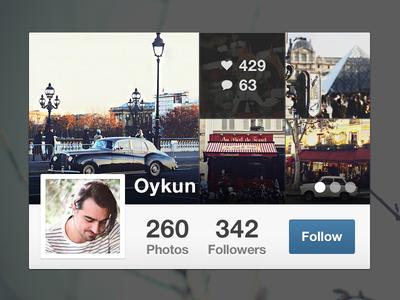 Instagram Mini Profile
