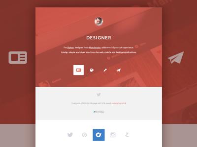 Portfolio Redesign 2013 (early stage) web website web ui portfolio icons twitter rdio dribbble zerply instagram oykun orange designer redesign