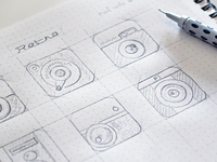 Quick sketches for an app icon