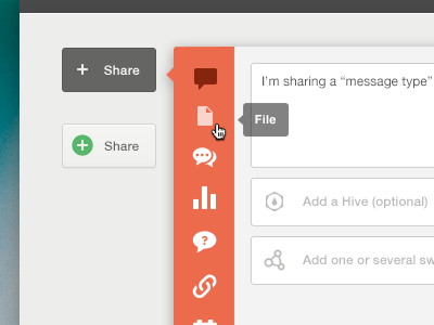 Sharebox popup share icon website web web ui button minimalist input form submit tooltip