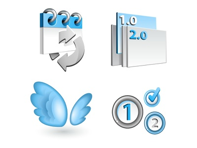 Pressbackup features pressbackup features icons wings calendar arrows cycle sync schedule version control steps