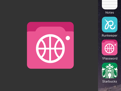 Playbbboard iOS icon camera utility mockup icons iphone iphone app dribbble app ios icon icon ios dribbble
