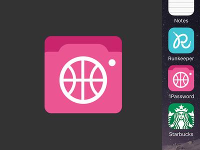 Playbbboard iOS icon camera utility mockup icons iphone iphone app dribbble app ios icon icon ios dribbble