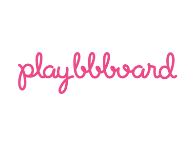 Playbbboard Logo app handlettering hand lettering hand drawn logo logotype