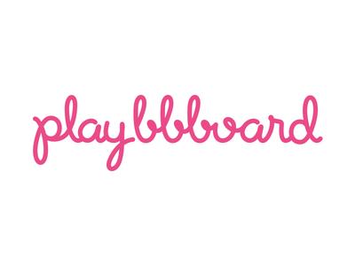 Playbbboard Logo app handlettering hand lettering hand drawn logo logotype