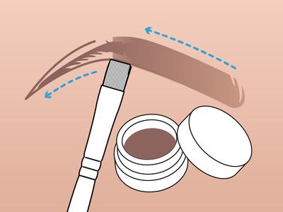 Experimenting with makeup tutorials tutorial manual illustration brush eyebrow makeup