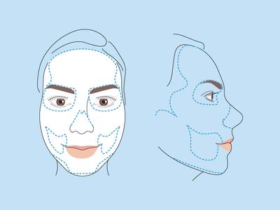 Skeleton makeup tutorial WIP skeleton halloween skull vector illustration tutorial makeup