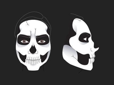 Skull face paint tutorial makeup illustration tutorial halloween skeleton face paint skull