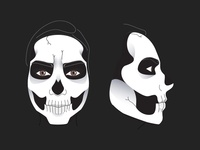 Skull face paint tutorial