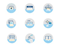 Icon set for Product Management areas