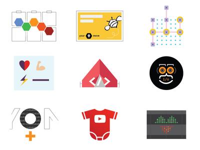 9 Women in Tech 100 days of women in tech 100 day challenge vector illustration drawing digital design concept women in tech