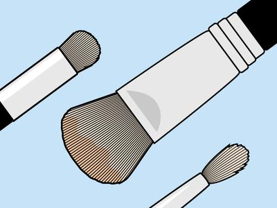 Brushes, brushes illustration instructional design tutorial brushes makeup