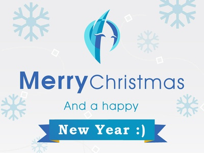 Happy Holidays everyone! merry christmas christmas happy holidays holidays snowflakes vector ribbon cristal happy new year holiday blue